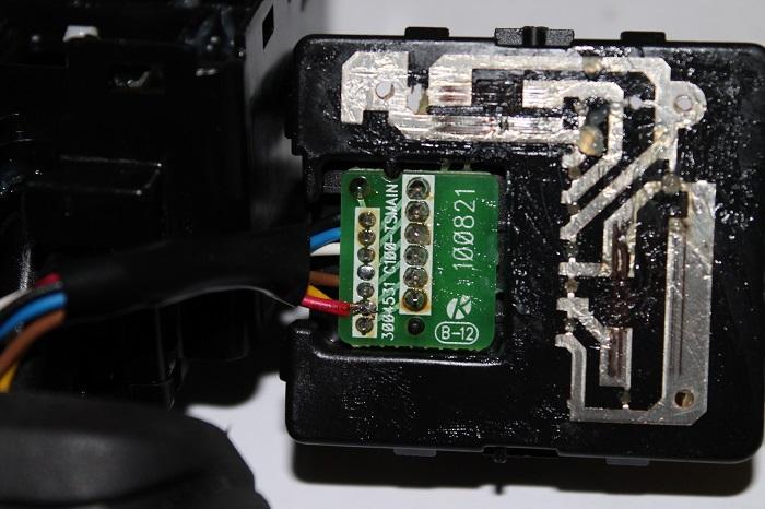 Переключатель ПТФ, место пайки провода передних ПТФ