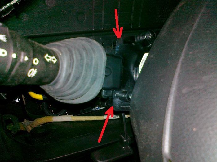 Переключатель ПТФ, снятие подрулевого переключателя освещения