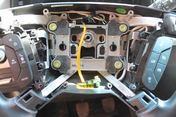 Шевроле Каптива С140. Общий вид монтажа и укладки проводов