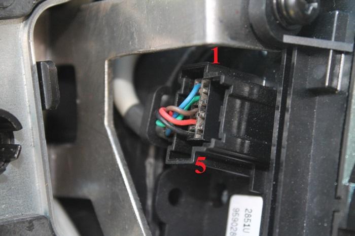Шевроле Каптива С140, Разъём переключателя круиз-контроля