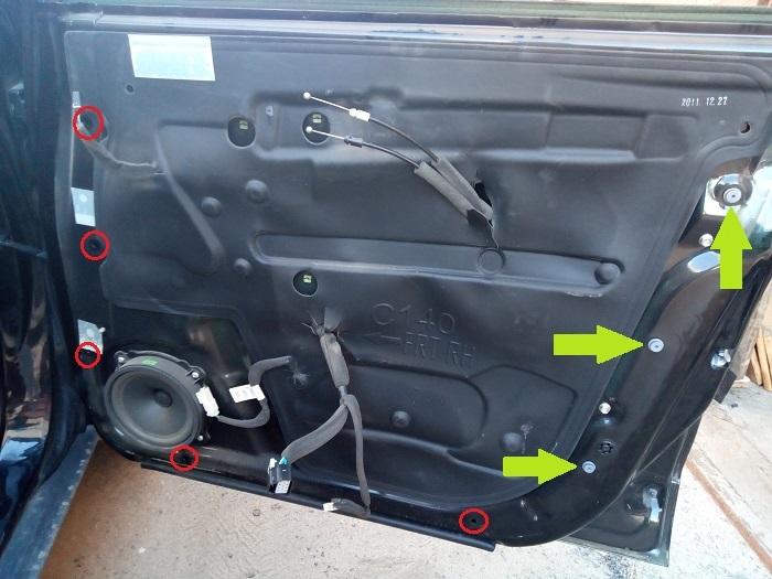4. Клипсы крепления карты передней двери Chevrolet Captiva C140
